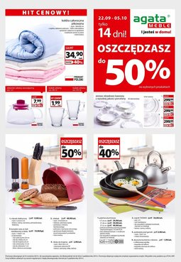 Gazetka promocyjna Agata , ważna od 22.09.2014 do 05.10.2014.