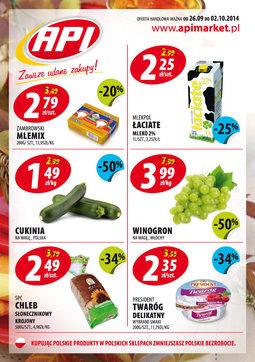 Gazetka promocyjna Api Market, ważna od 26.09.2014 do 02.10.2014.