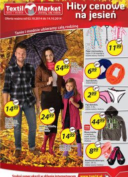Gazetka promocyjna Textil Market, ważna od 02.10.2014 do 14.10.2014.