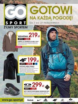 Gazetka promocyjna Go Sport, ważna od 07.10.2014 do 27.10.2014.