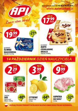 Gazetka promocyjna Api Market, ważna od 10.10.2014 do 16.10.2014.