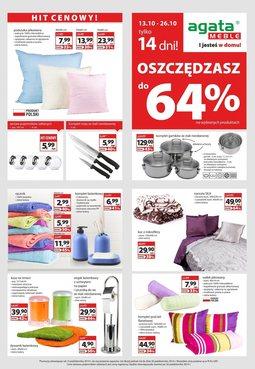 Gazetka promocyjna Agata , ważna od 13.10.2014 do 26.10.2014.