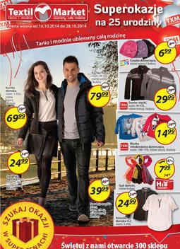 Gazetka promocyjna Textil Market, ważna od 16.10.2014 do 28.10.2014.