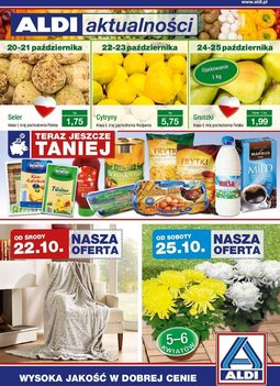 Gazetka promocyjna Aldi, ważna od 21.10.2014 do 29.10.2014.