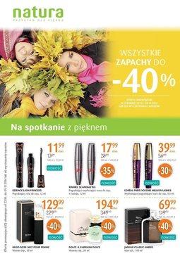 Gazetka promocyjna Drogerie Natura, ważna od 23.10.2014 do 05.11.2014.