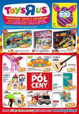 """Gazetka promocyjna Toys""""R""""Us, ważna od 23.10.2014 do 29.10.2014."""