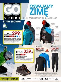 Gazetka promocyjna GO Sport, ważna od 28.10.2014 do 24.11.2014.
