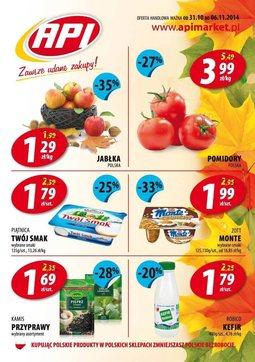 Gazetka promocyjna Api Market, ważna od 31.10.2014 do 06.11.2014.