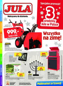 Gazetka promocyjna Jula, ważna od 31.10.2014 do 23.11.2014.