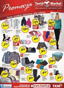 Gazetka promocyjna Textil Market, ważna od 13.11.2014 do 25.11.2014.