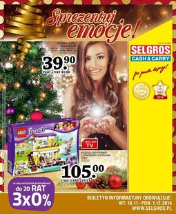 Gazetka promocyjna Selgros Cash&Carry, ważna od 18.11.2014 do 01.12.2014.