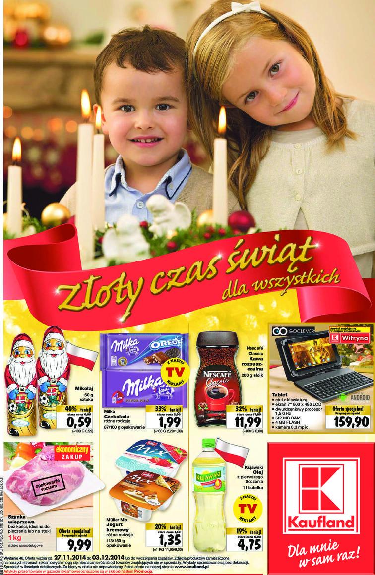 Gazetka sieci Kaufland, ważna od 2014-11-27 do 2014-12-03, strona 1