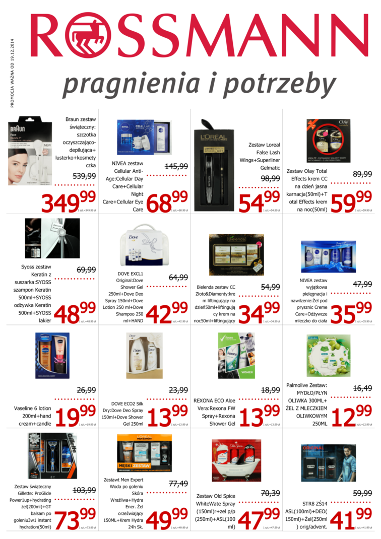 Gazetka sieci Rossmann, ważna od 2014-12-19 do 2014-12-28, strona 1