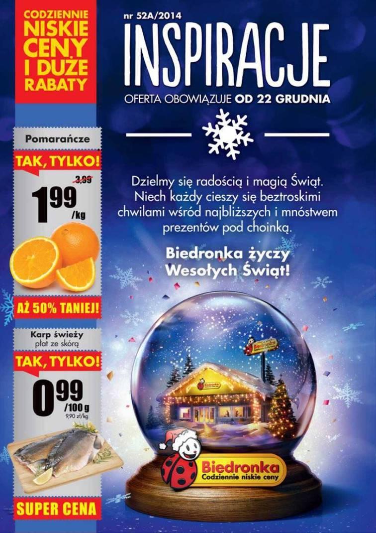 Gazetka sieci Biedronka, ważna od 2014-12-22 do 2014-12-26, strona 1