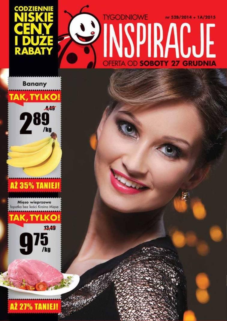Gazetka sieci Biedronka, ważna od 2014-12-27 do 2015-01-02, strona 1