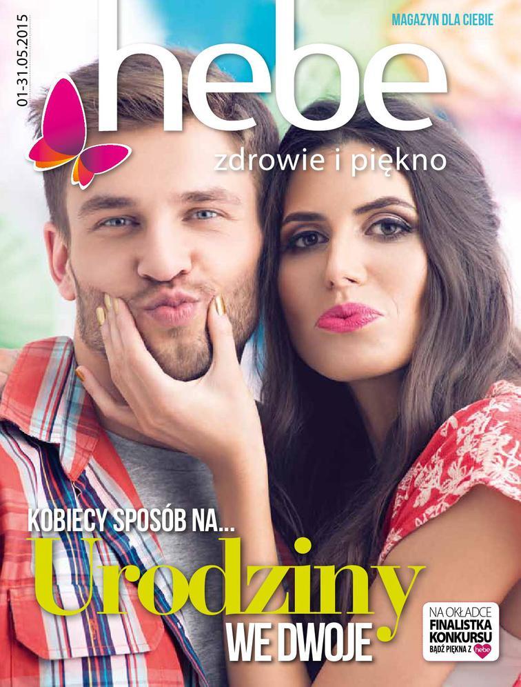 Gazetka sieci Drogeria Hebe, ważna od 2015-05-01 do 2015-05-31, strona 1