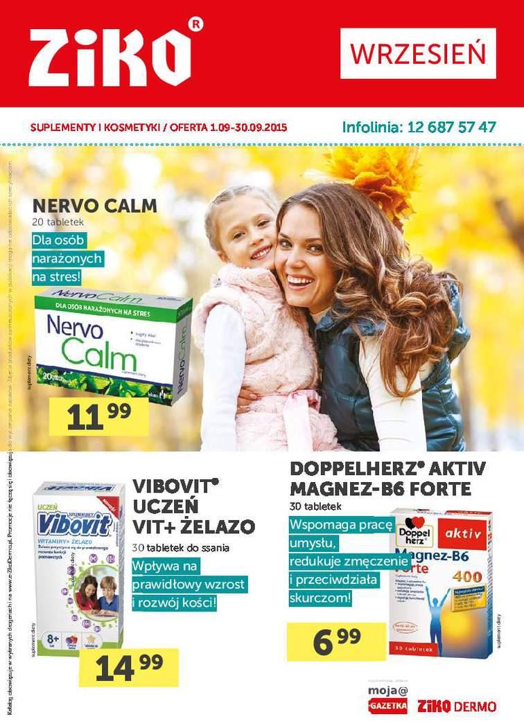 Gazetka sieci Ziko Dermo, ważna od 2015-09-01 do 2015-09-30, strona 1