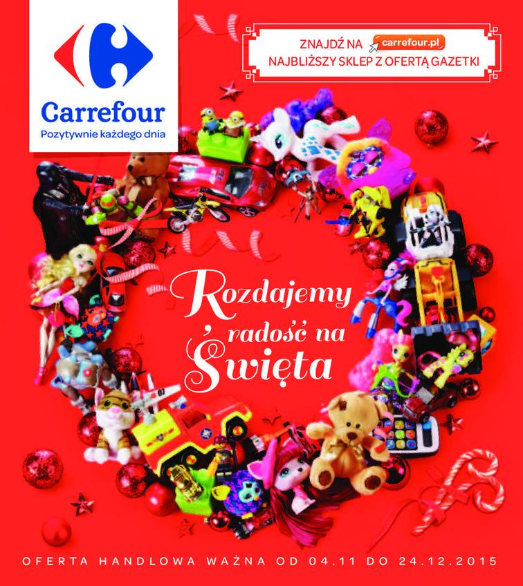 Gazetka sieci Carrefour, ważna od 2015-11-04 do 2015-12-24, strona 1