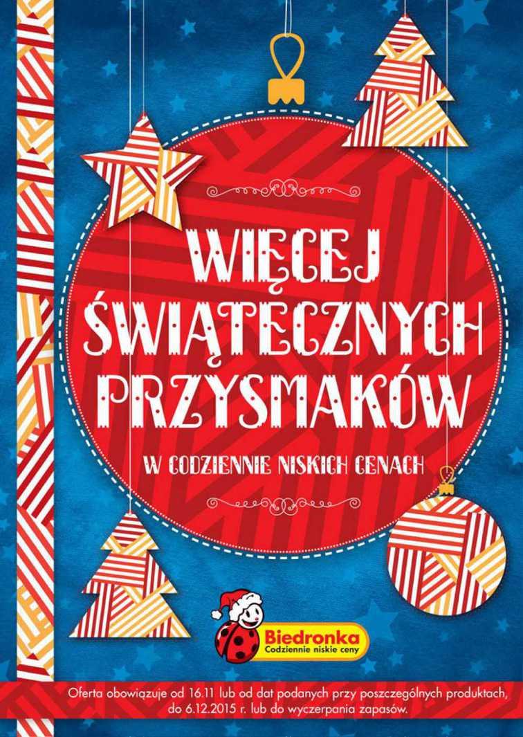 Gazetka sieci Biedronka, ważna od 2015-11-16 do 2015-12-06, strona 1