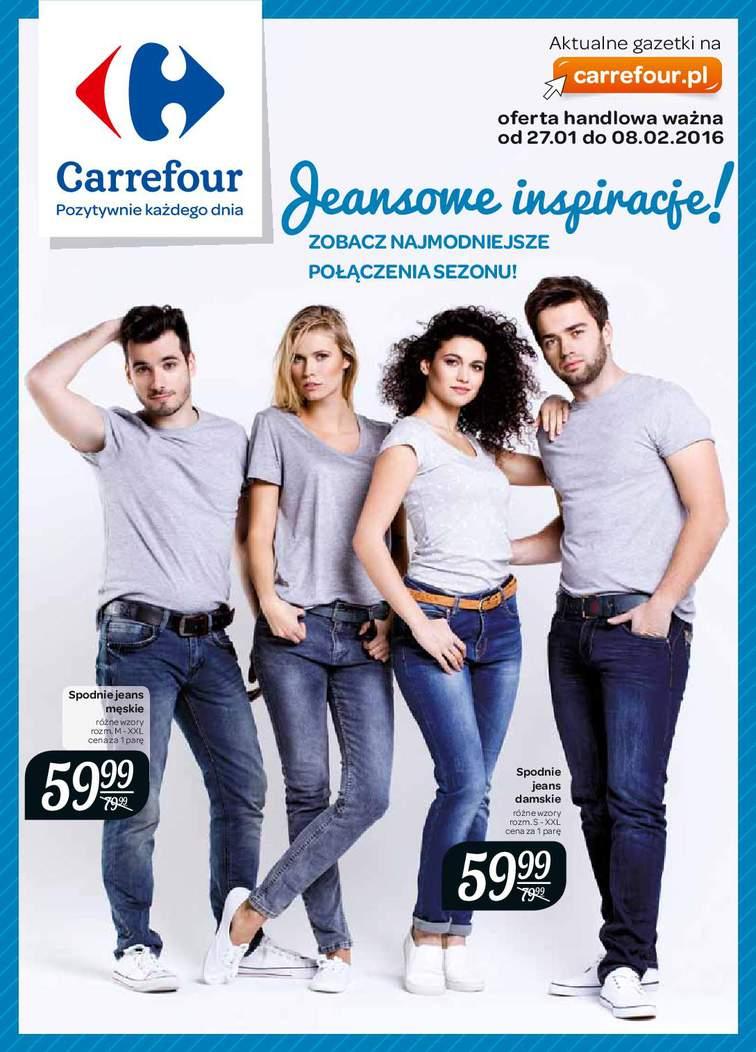 Gazetka sieci Carrefour, ważna od 2016-01-27 do 2016-02-08, strona 1