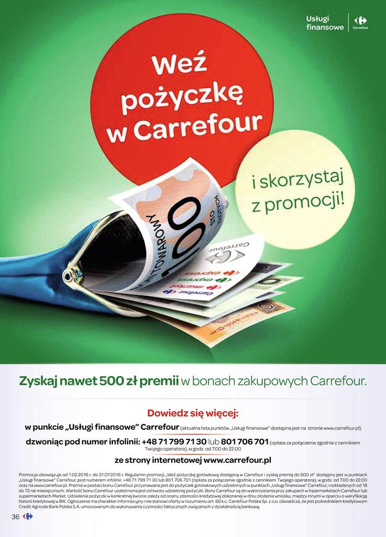 Gazetka sieci Carrefour, ważna od 2016-03-15 do 2016-03-20, strona 36