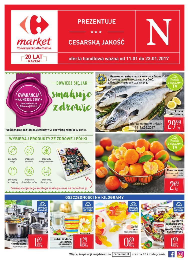 Gazetka sieci Carrefour, ważna od 2017-01-11 do 2017-01-23, strona 1