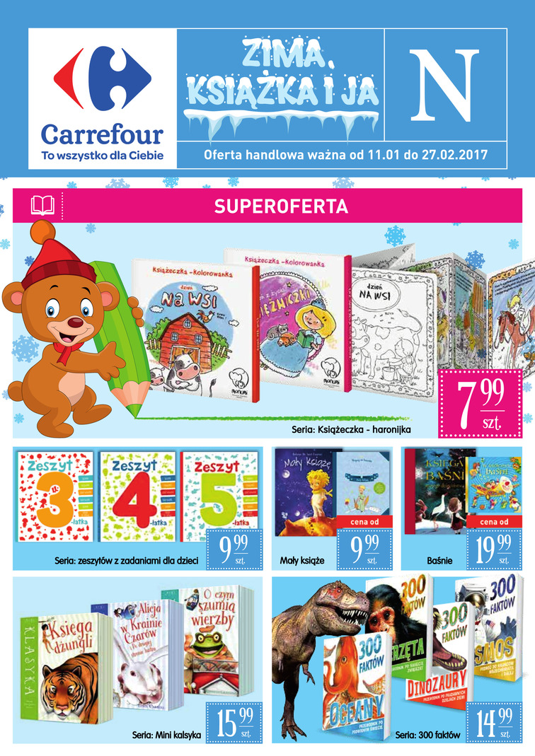 Gazetka sieci Carrefour, ważna od 2017-01-11 do 2017-01-27, strona 1