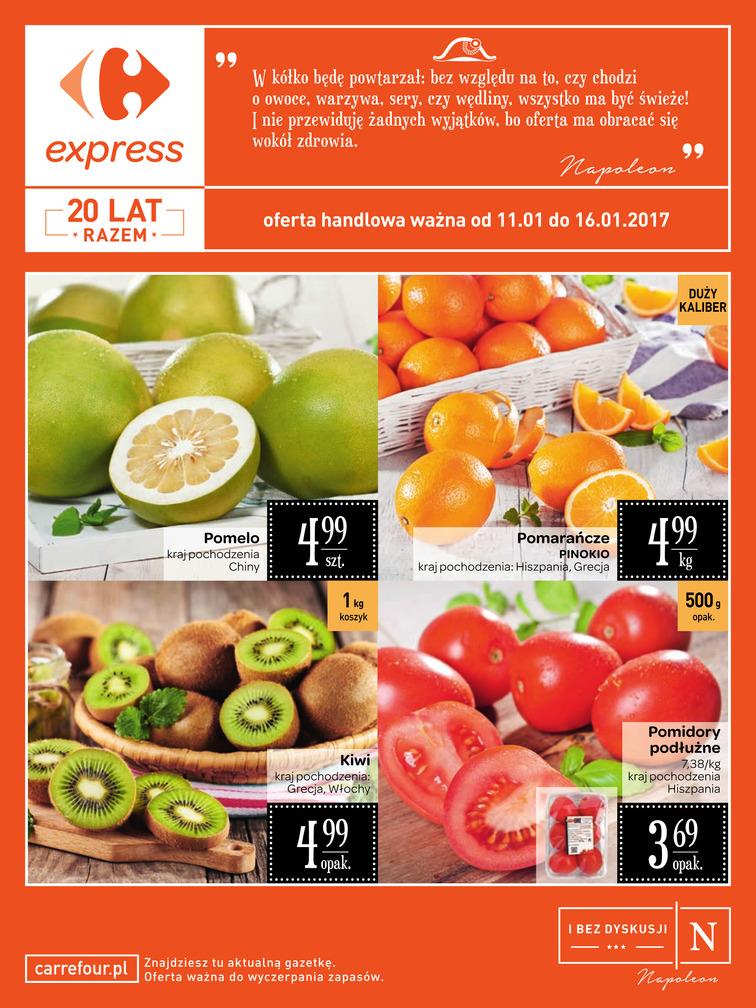 Gazetka sieci Carrefour, ważna od 2017-01-11 do 2017-01-16, strona 1