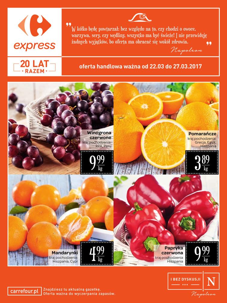 Gazetka sieci Carrefour Express, ważna od 2017-03-22 do 2017-03-27, strona 1