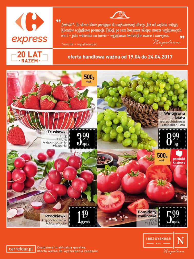 Gazetka sieci Carrefour Express, ważna od 2017-04-19 do 2017-04-24, strona 1
