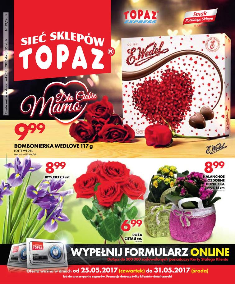 Gazetka sieci Topaz, ważna od 2017-05-25 do 2017-05-31, strona 1