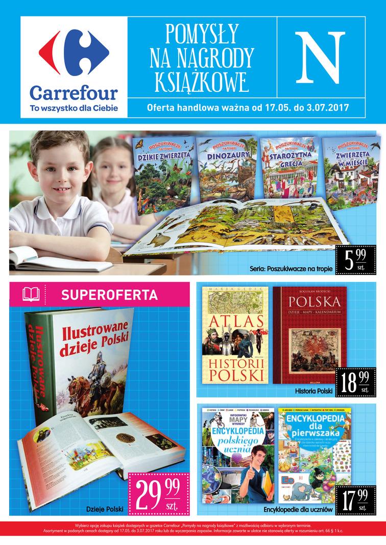 Gazetka sieci Carrefour, ważna od 2017-05-17 do 2017-07-03, strona 1