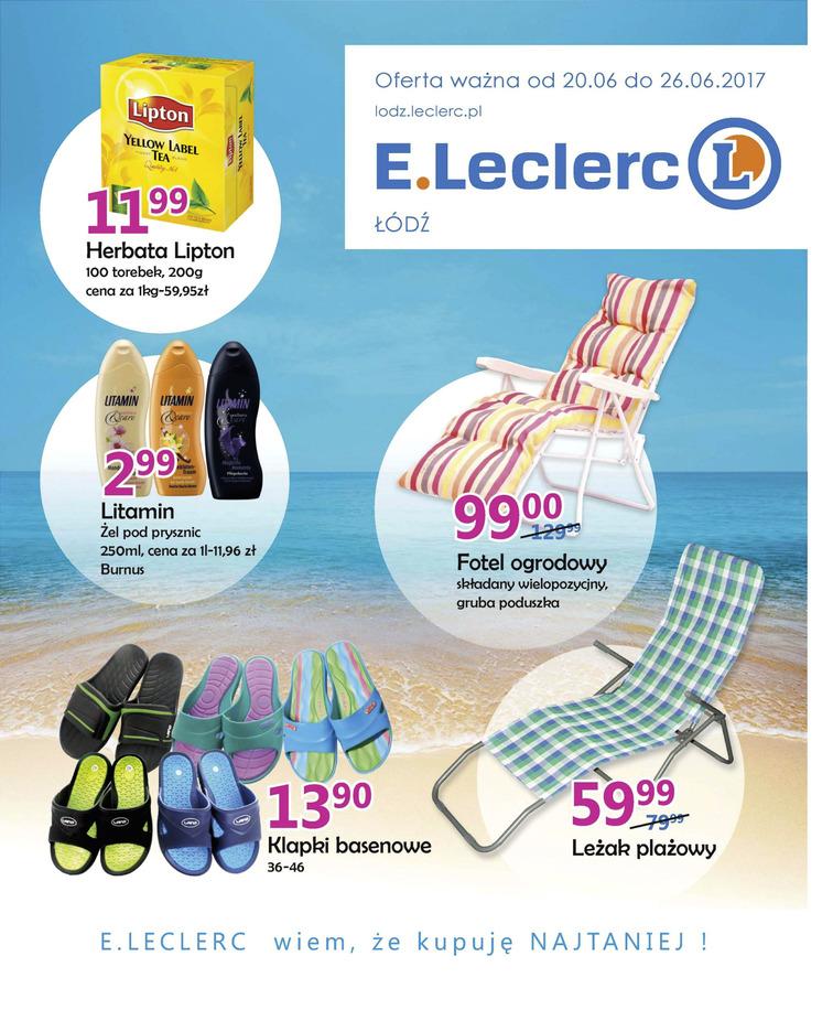 Gazetka sieci E.Leclerc, ważna od 2017-06-20 do 2017-06-26, strona 1