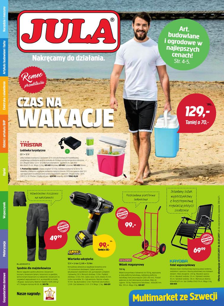 Gazetka sieci Jula, ważna od 2017-07-07 do 2017-07-21, strona 1