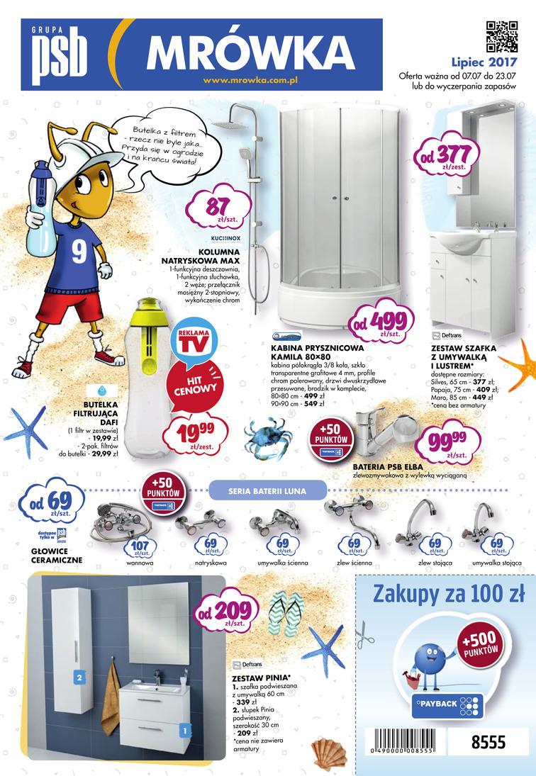 Gazetka sieci PSB Mrówka, ważna od 2017-07-07 do 2017-07-23, strona 1