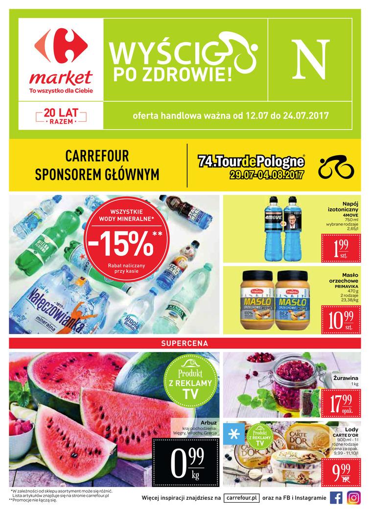 Gazetka sieci Carrefour, ważna od 2017-07-12 do 2017-07-24, strona 1