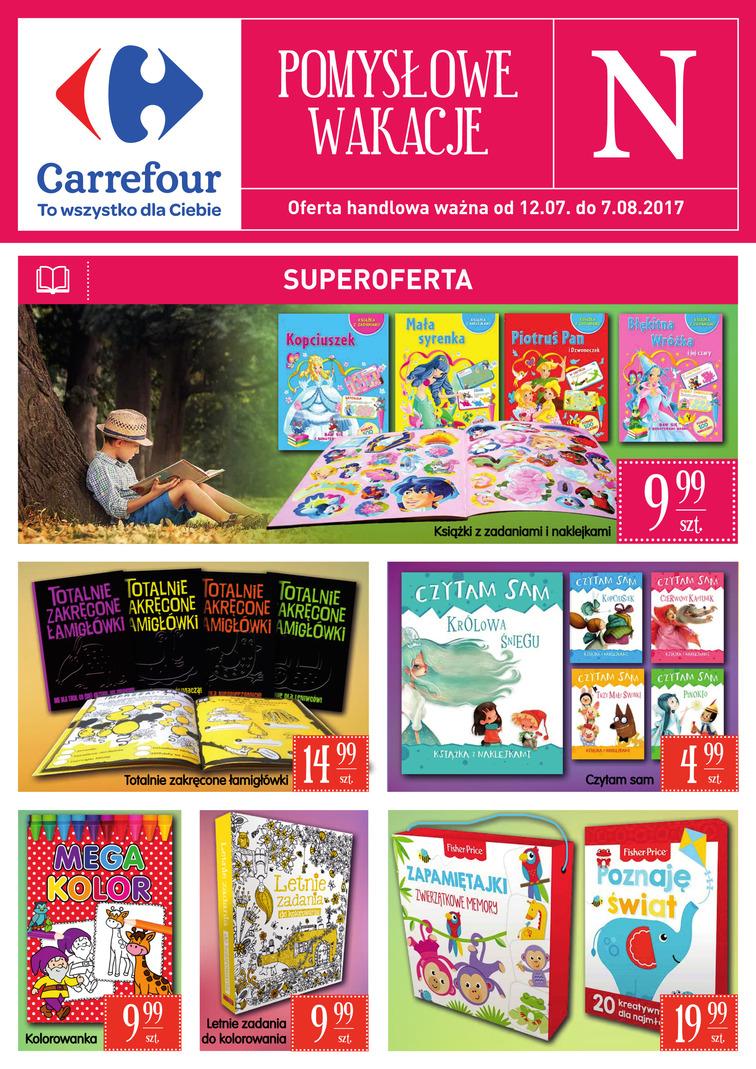 Gazetka sieci Carrefour, ważna od 2017-07-12 do 2017-08-07, strona 1