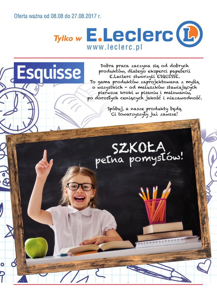 Gazetka sieci E.Leclerc, ważna od 2017-08-08 do 2017-08-27, strona 1