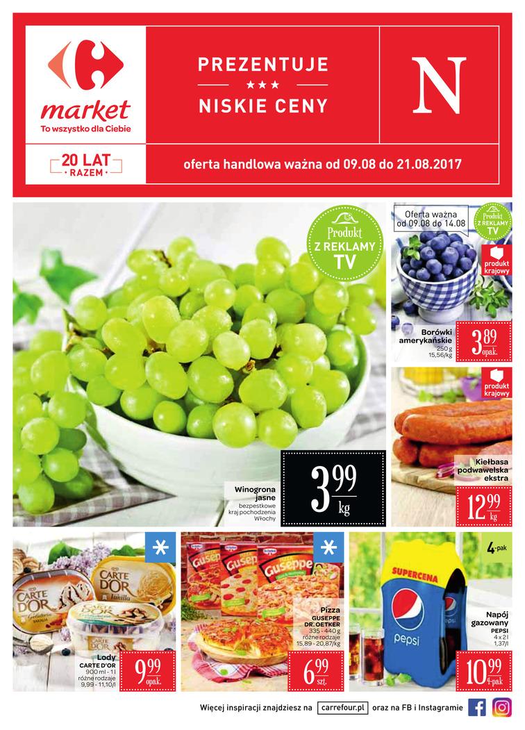 Gazetka sieci Carrefour, ważna od 2017-08-09 do 2017-08-21, strona 1