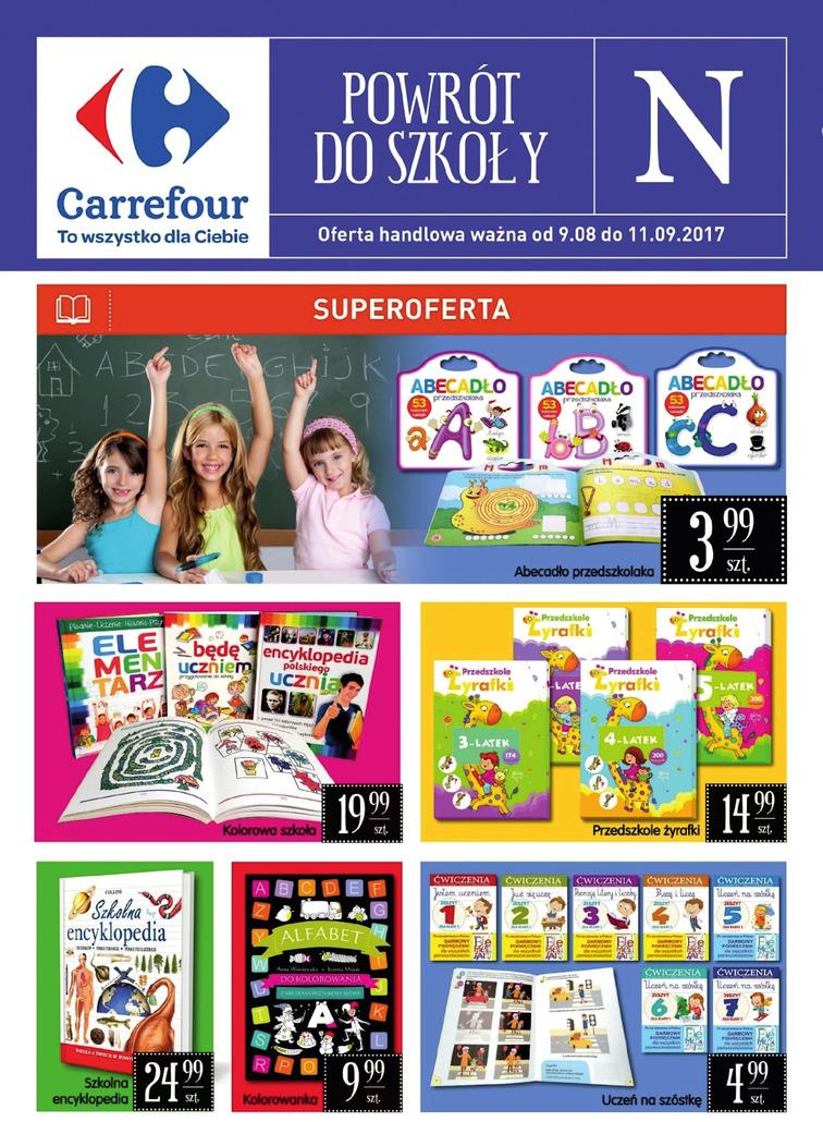 Gazetka sieci Carrefour, ważna od 2017-08-09 do 2017-09-11, strona 1