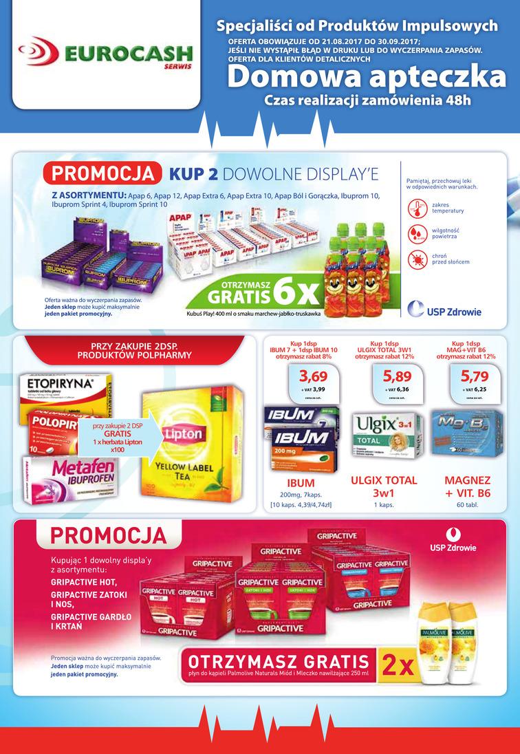Gazetka sieci Eurocash Cash&Carry, ważna od 2017-08-21 do 2017-09-30, strona 1