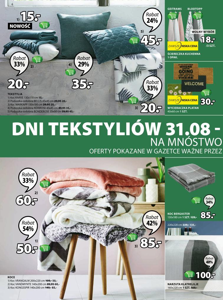 Gazetka sieci Jysk, ważna od 2017-08-31 do 2017-09-13, strona 6