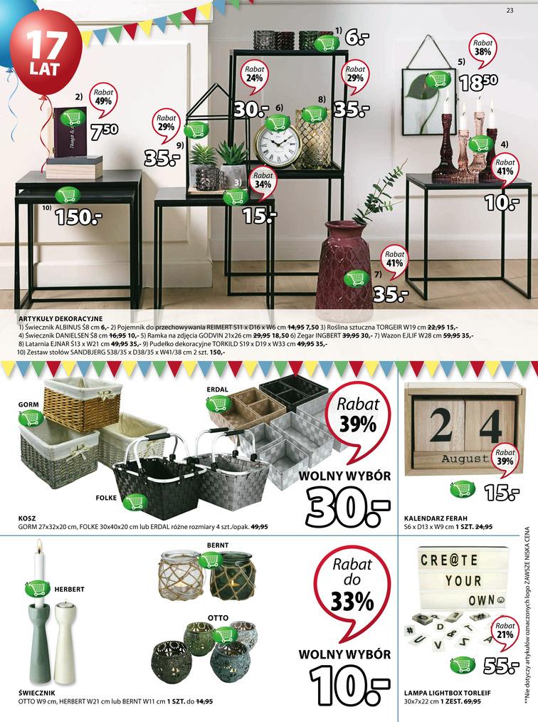 Gazetka sieci Jysk, ważna od 2017-08-31 do 2017-09-13, strona 23