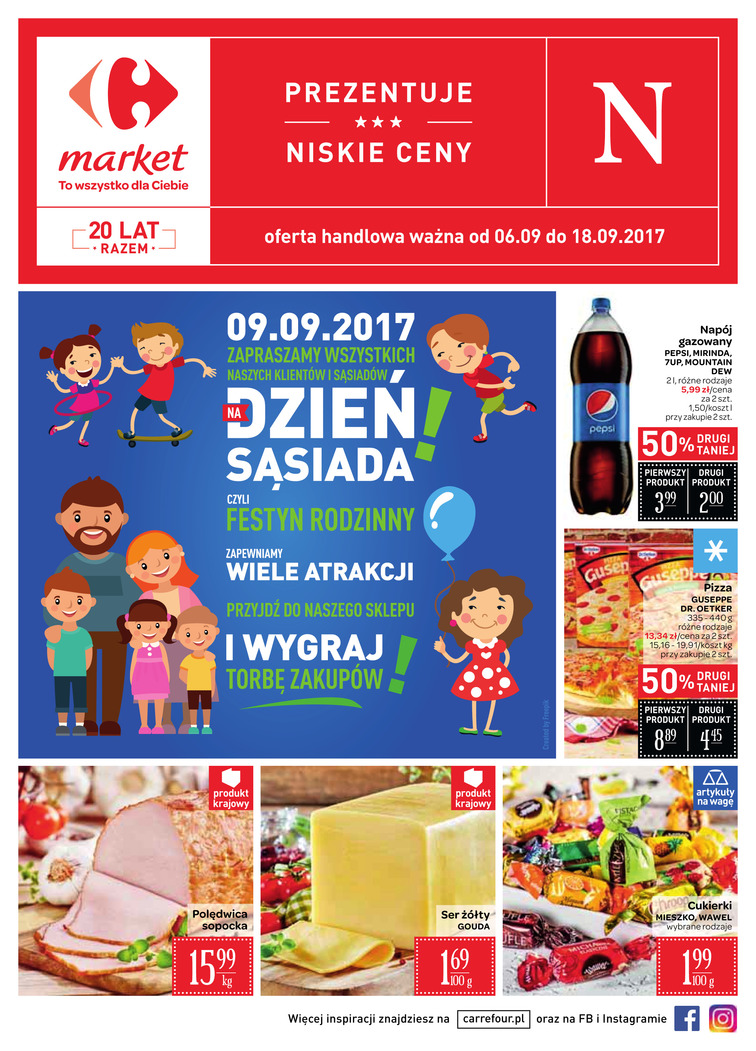 Gazetka sieci Carrefour, ważna od 2017-09-06 do 2017-09-18, strona 1