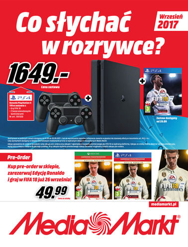 Gazetka promocyjna Media Markt, ważna od 01.09.2017 do 30.09.2017.