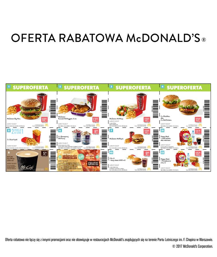Gazetka sieci McDonald's, ważna od 2017-09-04 do 2017-10-15, strona 1