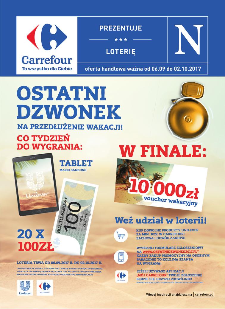 Gazetka sieci Carrefour, ważna od 2017-09-06 do 2017-10-02, strona 1