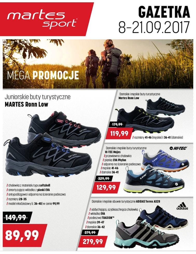 Gazetka sieci Martes Sport, ważna od 2017-09-08 do 2017-09-21, strona 1