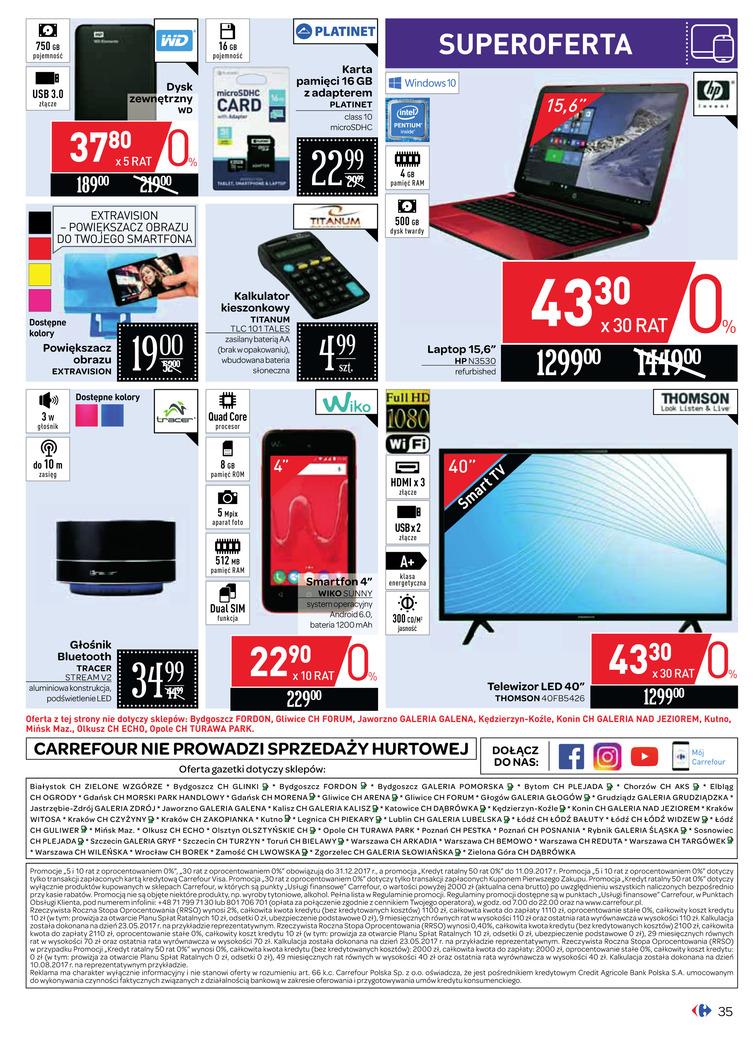Gazetka sieci Carrefour, ważna od 2017-09-06 do 2017-09-18, strona 36