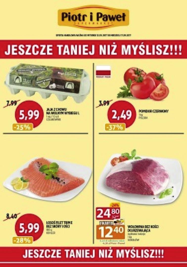 Gazetka sieci Piotr i Paweł, ważna od 2017-09-12 do 2017-09-17, strona 1